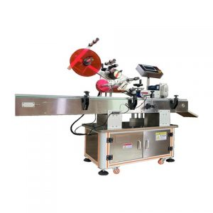 Adhesive Sticker Labeling Machine With Two Labeling Heads