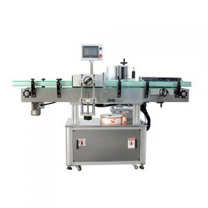 Oval Bottles Labeling Machinery With Vertical Adhesive Label