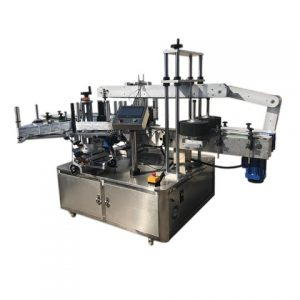 Container Top Side Labeling Machine
