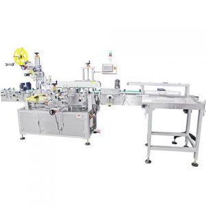 Automatic Cup Top And Side Sticker Labeling System